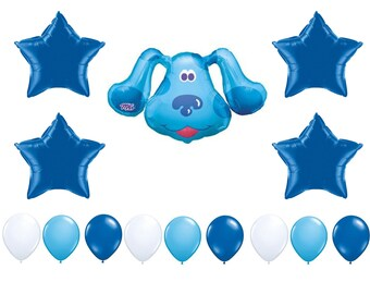 Blue's Clues Birthday Balloons, Blues Clues Party Decorations, Blues Clues Balloons, Blue's Clues Party Balloon, Blue Dog Balloons