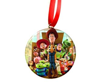 """Toy Story Group Christmas Tree 2.25"""" Ornament"""