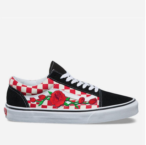 vans carreaux rouge