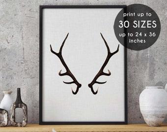 Antler art, deer antlers, printable art, antler print, deer print, antlers print, deer antler print, deer wall art, wall art,black,white, 44