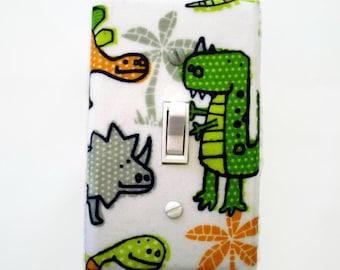 Dinosaur Light Switch Cover - Dinosaur Nursery Switch Plate - Boys Dinosaur Bedroom Decor