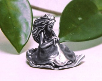 "Tooth Fairy Box Pewter ""On A Whim"" Princess and Dolphin"