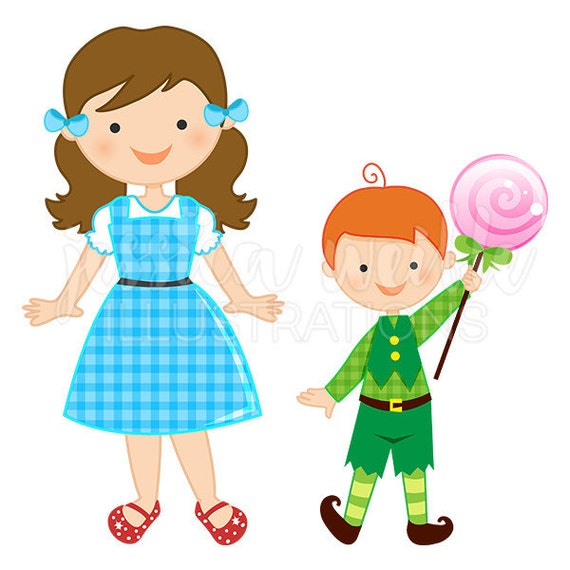 just dorothy and the munchkins cute digital clipart wizard of oz rh etsystudio com wizard of oz clipart free wizard of oz clipart free