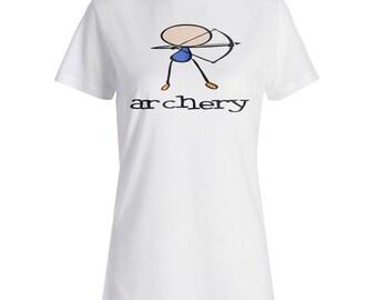 Archery Sports Funny Comic New Ladies T-shirt g160f