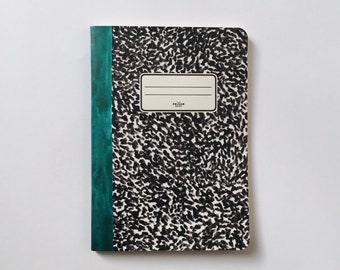 Green Notebook - Journal - Sketchbook - Blank pages - Lined pages