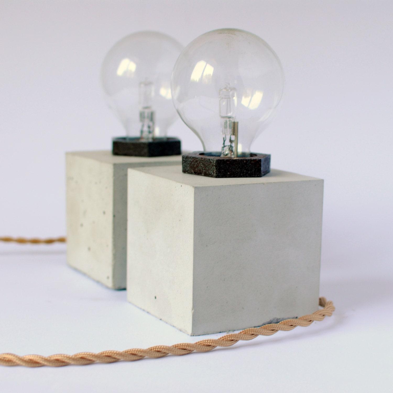 concrete table lamp. 🔎zoom Concrete Table Lamp