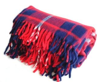 Faribault Faribo Plaid Blanket Vintage Made In USA