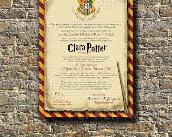 Hermione invitation Etsy