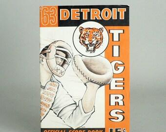 Detroit Tigers Baseball 1963 Score Book