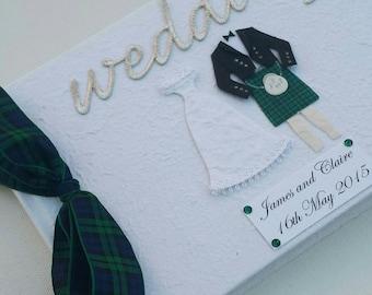 Scottish Wedding Guest Book - Your clan Tartan