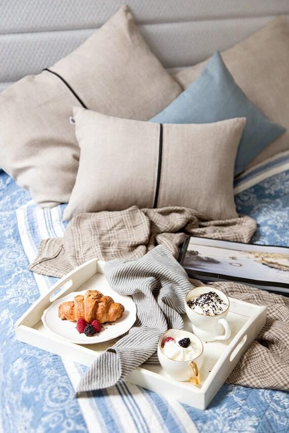 Minimalist throw pillow, Natural linen bolster pillow, sofa pillows with black zipper around, accent pillow, accent pillow, bolster cushion