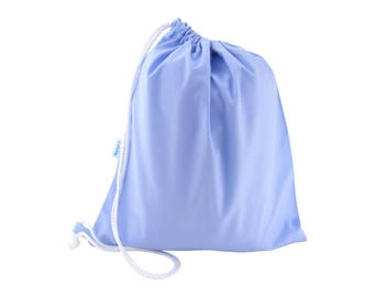 PE Bag, Shoe Bag, Drawstring Bag - Pale Blue