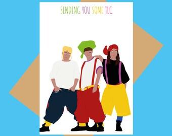 TLC greeting card - sending you some TLC - RnB greeting card