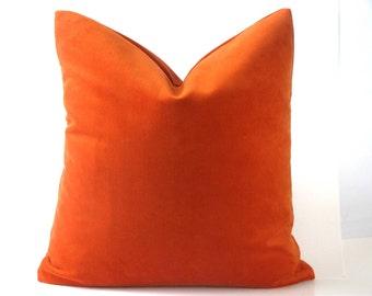 Pillow Cover Orange Velvet