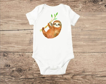 Sloth Bodysuit, Sloth Baby Clothes