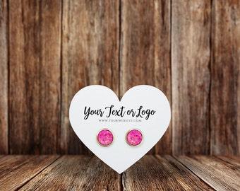 Custom Earring Cards | Heart | Jewelry Display Cards | SH065EA
