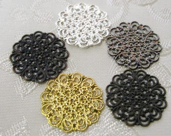 Round Filigree Coins 16mm Nickel Free You Choose Finish 502