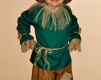 Boys Scarecrow Costume Sizes 2 thru 8 from The Wizard of Oz
