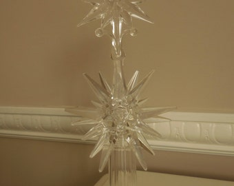 Clear Acrylic Tree Topper