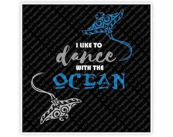 Disney, Moana, I Like to Dance with the Ocean, Gramma Tala, Stingray, Tattoo, Digital, Download, TShirt, Cut File, SVG, Iron on, Transfer