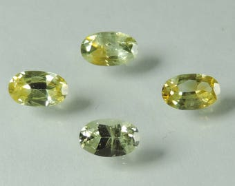 1.15 cts yellow sapphire 5x3 mm faceted oval lot Montana