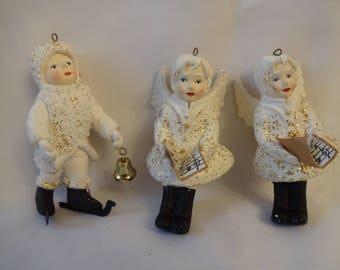 Christmas Ornament Vintage Snow Baby