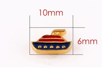Cruise Ship Floating Locket Charm Living Memory Lockets Jewelry Making Supplies - 62d