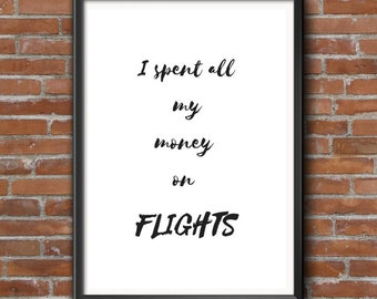 Travel Quote, Wall Decor, Home Decor, Bedroom Decor, Travellers Wall Decor, Travellers Gift, Wanderlust, Typography, Gift for best friend