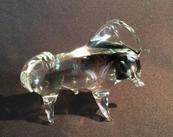Murano glass bull toro