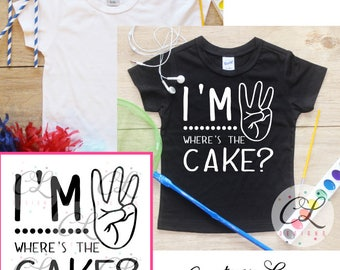 I'm This Many Birthday Boy Shirt / Baby Boy Clothes 3 Year Old Outfit Third Birthday TShirt 3rd Birthday Boy Outfit Party Three Toddler 093