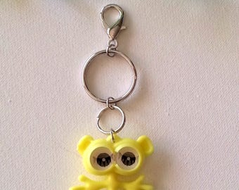 Googly Eyes Monster Keychain, 1980 Kitsch, Funny Monster Charm, Keychain for Women, Gift Idea, Keyring, Zipper Pull, Purse Bling