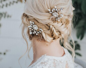 """Wedding Hair Accessories, Bridal Comb, Bridal Hair Accessories, Bridal Headpiece ~ """"Collette"""" Wedding Hair Pin in Silver or Gold"""