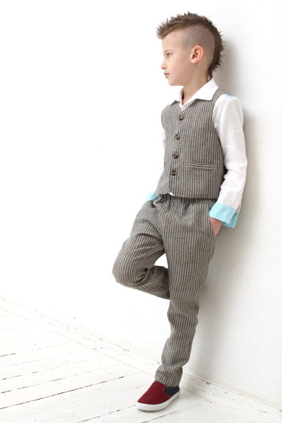 Boy natural linen pants Boy clothes Toddler boys linen pants