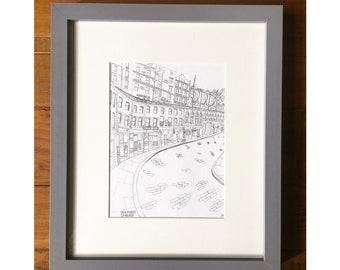 Grassmarket, Edinburgh print