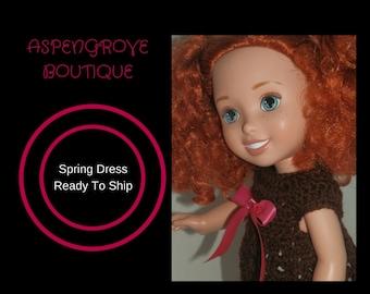 14 inch doll clothing crochet doll dress clothes handmade girl doll Disney Doll ready to ship