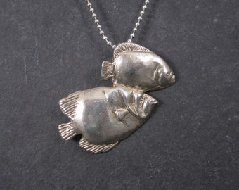 Whimsical Sterling Fish Pendant Necklace