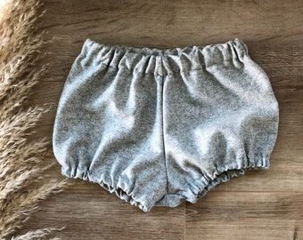 Ash grey wool bloomers / shorts / nappy cover/ diaper cover