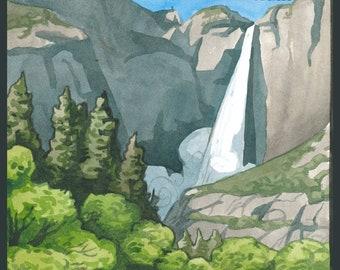 Yosemite National Park Travel Poster/Postcard