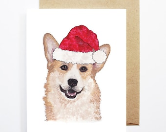 Christmas Card - Corgi, Dog Christmas Card, Cute Christmas Card, Holiday Card, Xmas Card, Seasonal Card, Christmas Card Set