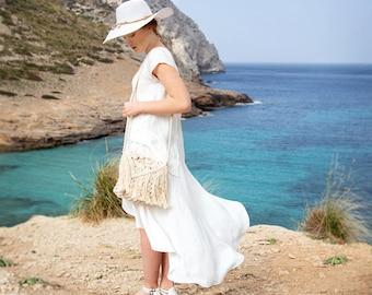 Wrap linen skirt for summer in custom color