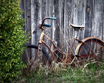 Old Bike - Bike - Rusty Bike - Bicycle - Old Bicycle - Antique Bike - Antique Bicycle - Fine Art Photography