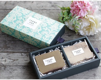 5 sets Soap gift box for 2 pieces, Blue Vintage, Vintage paisley, only included handle ribbon and boxes(not thank you sticker)