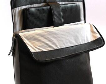 Black Laptop Bag, Vegan Backpack, Black College Bag, Macbook Bag, Laptop Backpack, Vegan Rucksack, Everyday Backpack, City Laptop Bag