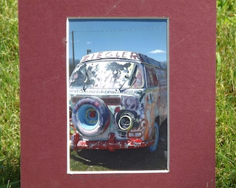 Happy Van matted photo print