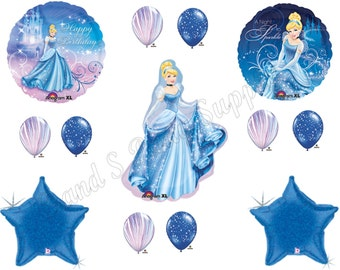 CINDERELLA Sparkling Balloons Birthday party Decoration Supplies Disney Movie