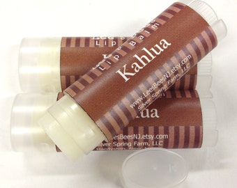 Lip Balm - Kahlua, One Tube of All Natural Beeswax Chapstick Lip Salve by Lee the Beekeeper