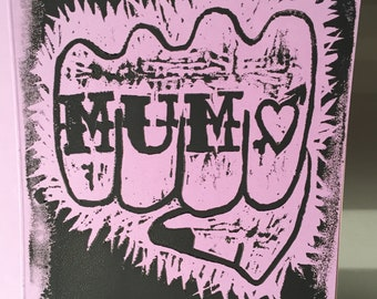Mothers Day Card: Mum Knuckle Tattoo or Mama Love