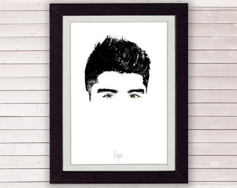 Zayn Malik, One Direction poster, minimalist art, 1D, 8x10 or A4, LIMITED EDITION FOR 35