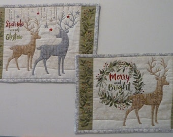 Christmas Placemats - Merry and Bright (set of 2)