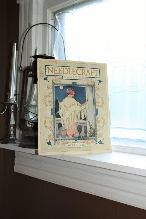 1926 Needlecraft Magazine March Issue Vintage 1920s Sewing